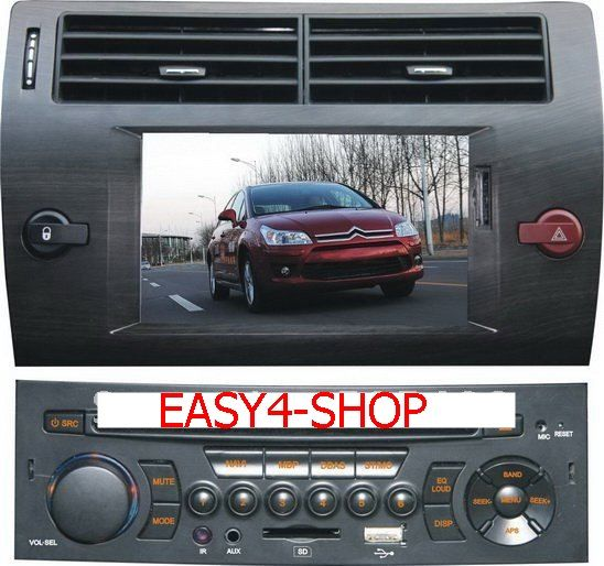dvd player gps citroen c4 easy4 shop eletronics. Black Bedroom Furniture Sets. Home Design Ideas